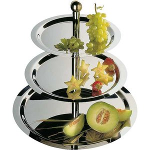 APS Etagere Finesse | 3 Traps Tray | Stainless Steel | Around 32-48 cm, height 50cm