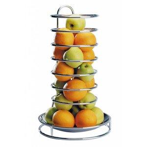 APS Etagere Früchte   Edelstahl   Verchromte Drahtmodell   ø32cm, Höhe 53cm