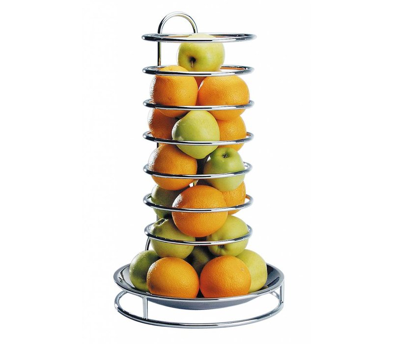 APS Etagere Früchte | Edelstahl | Verchromte Drahtmodell | ø32cm, Höhe 53cm