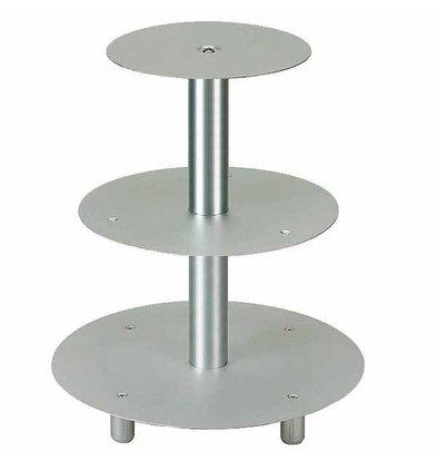 APS Gebak Standaard | 3 stuks | Aluminium | Ø 20/26/32cm