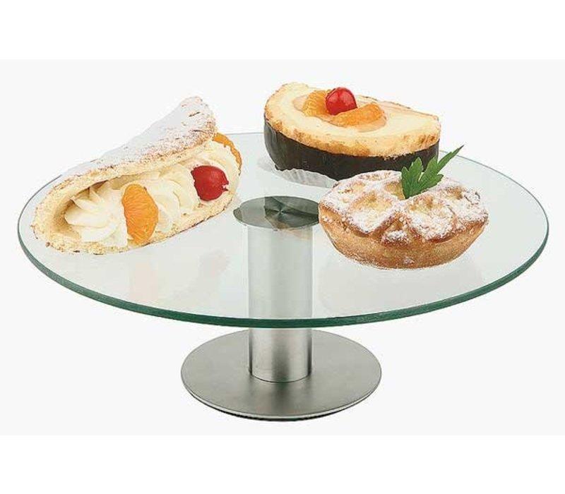 APS Kuchenständer | Edelstahl | Glasbehälter | Ø300 mm, Höhe 110 mm
