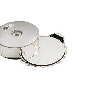 APS Kuchenständer Barock | Edelstahl | Durchmesser 320 mm, Höhe 100 mm
