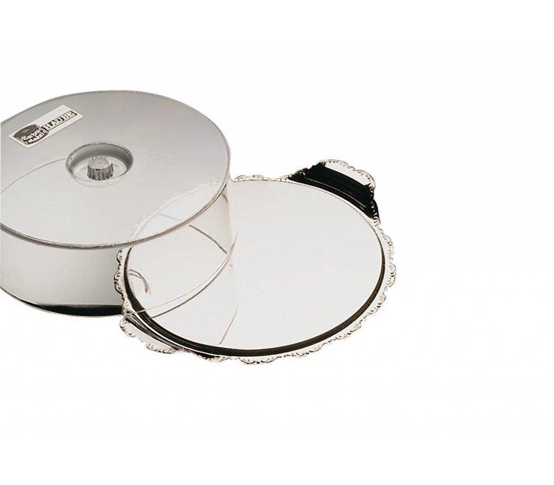 APS Kuchenständer Barock   Edelstahl   Durchmesser 320 mm, Höhe 100 mm