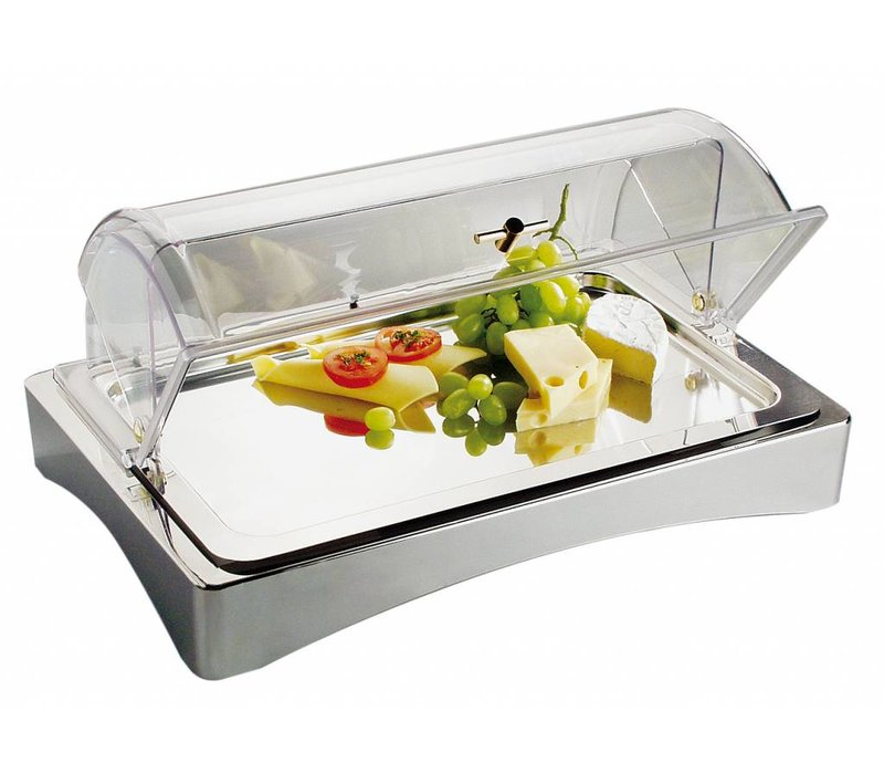 """APS Icebox   GN 1/1   18/10 stainless steel   """"Top Fresh '  ca. 565x360 mm   Height 85mm"""