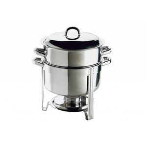APS Chafing Dish Set / Soep Pot | RVS | 13,5 Liter | Rond 33x(H)35cm