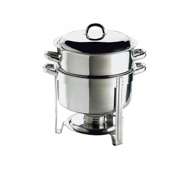 APS Chafing Dish Set / Suppentopf | Edelstahl | 13,5 Liter | Rund 33x (H) 35cm