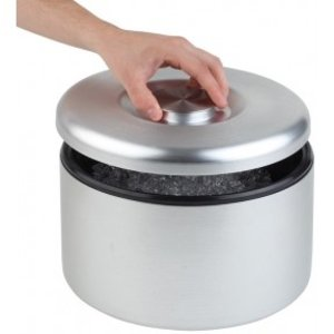 APS Ice-Box Maxi | Aluminium, poliert, matt | Mit Tropfgitter | Ø27x (H) 20cm