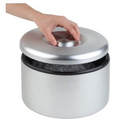 APS IJsbox Maxi | Aluminium, mat Gepolijst | Met Drip Rooster | Ø27x(H)20cm