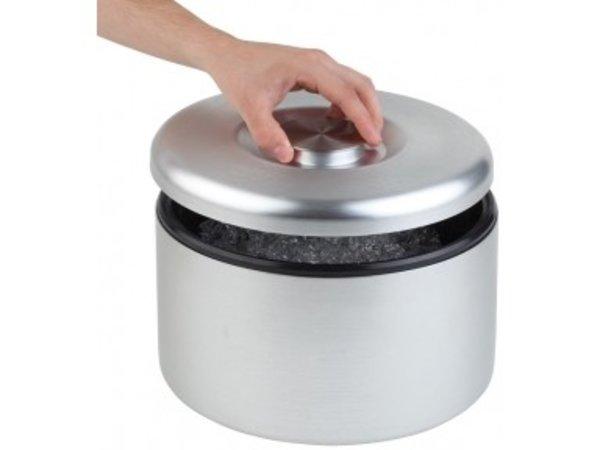 APS Ice-box Maxi | Aluminum, matt polished | With Drip Grid | Ø27x (H) 20cm