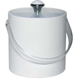 APS Eiskübel Round Weiß | Kunststoffgriff | 1.5 Liter | Ø15x (H) 15cm