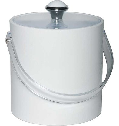 APS Ice bucket Round White | Plastic Handle | 1.5 Litre | Ø15x (H) 15cm