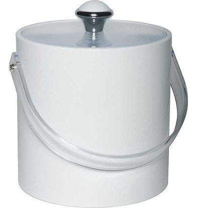 APS IJsemmer Rond Wit | Kunststof Handvat | 1.5 Liter | Ø15x(H)15cm