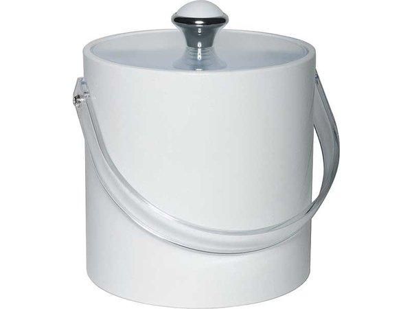 APS Ice bucket Round White | Plastic Handle | 1.5 Litre | Ø15x (H) 15cm