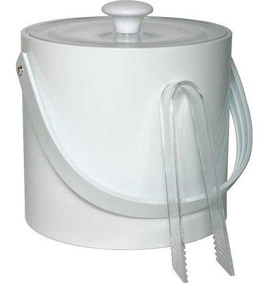 APS IJsemmer Rond Wit | 3 Liter | Met tang | Ø20x(H)18cm