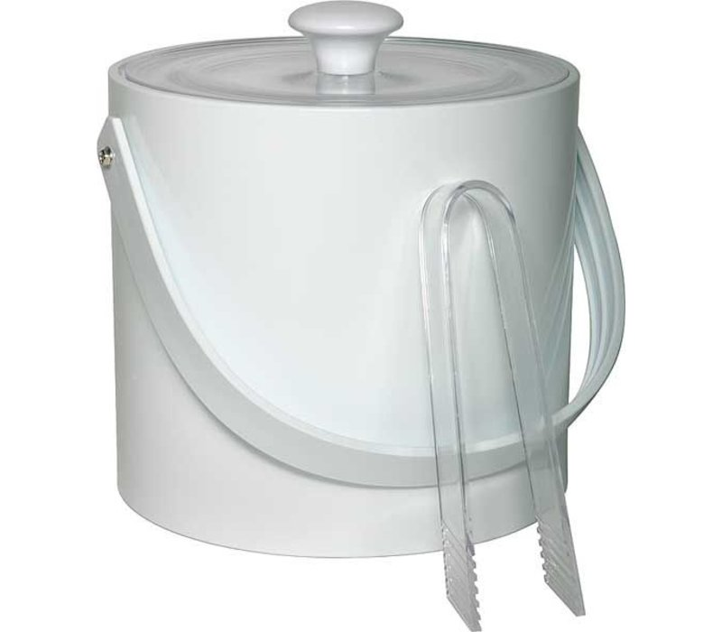 APS Eiskübel Round Weiß | 3 Liter | Mit einer Zange | Ø20x (H) 18cm
