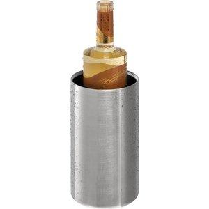 APS Edelstahl Flaschenkühler doppelwandig rund - Matt Poliert - Ø12cm x 20 (H) cm