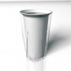 APS Plastic Bottle cooler - doppelwandig - Crystal - Ø12cm x 23 (H) cm