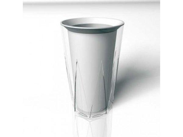 APS Flessenkoeler Kunststof - Dubbelwandig - Crystal - Ø12cm x 23(h)cm