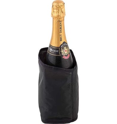 APS Coole Kragen Schwarz für Champagne - reißfest und leicht zu frieren - Ø11cm x 18 (H) cm