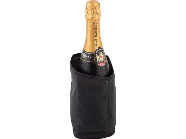 APS Cool Collar Black for Champagne - Tear resistant and easy to freeze - Ø11cm x 18 (H) cm
