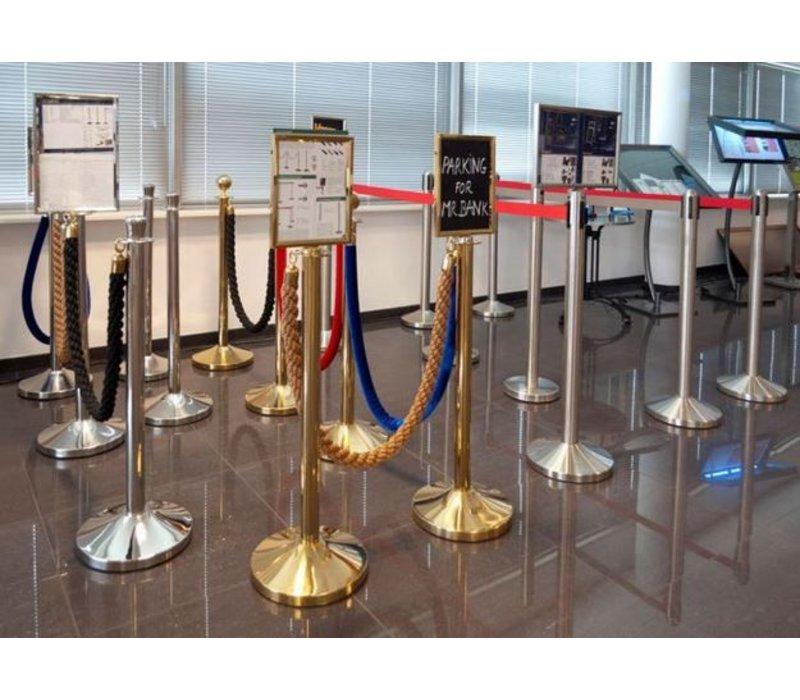 Securit Sperrpfosten Gold Classic 13 kg - Höhe 1m - HEAVY zoll- XXL ANGEBOT!