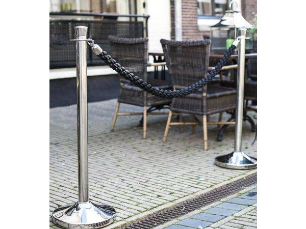 Securit Barrier Beitrag Classic Chrome 13 kg - Höhe 1m - HEAVY DUTY - XXL ANGEBOT!