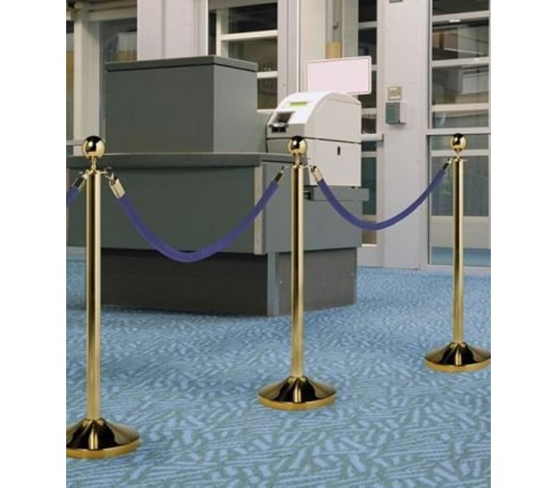 Securit Outlet Cord Gold Blue Velvet - 1.5 m | DELUXE