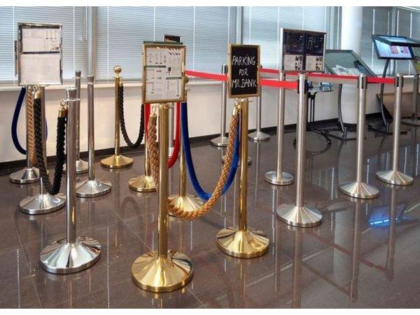 Securit Afzetkoord Goud Rood Velours - 1.5 meter   DELUXE