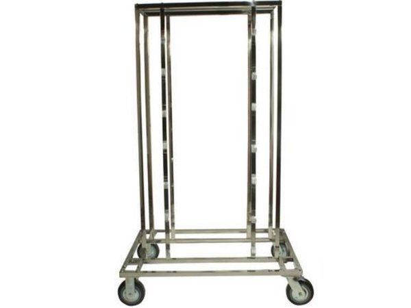 Saro Barrier post Chrome 9 kg - with Red drawstring 180cm