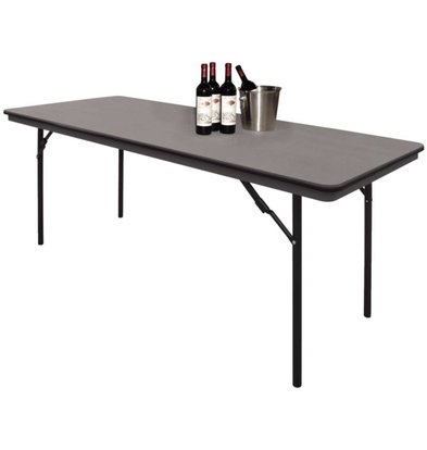 Bolero Table with Foldable Steel Frame - Strong Plastic - 75 (h) x180 (b) cm