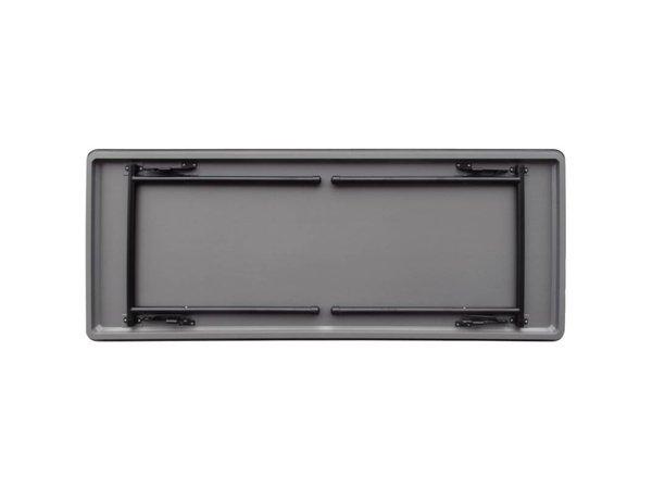 Bolero Tabelle mit zusammenklappbarem Stahlrahmen - starker Plastik - 75 (h) x180 (b) cm