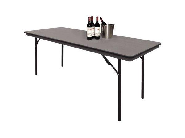 Bolero Table with foldable legs - Strong Plastic - 75 (h) x122 (b) x61 (D) cm