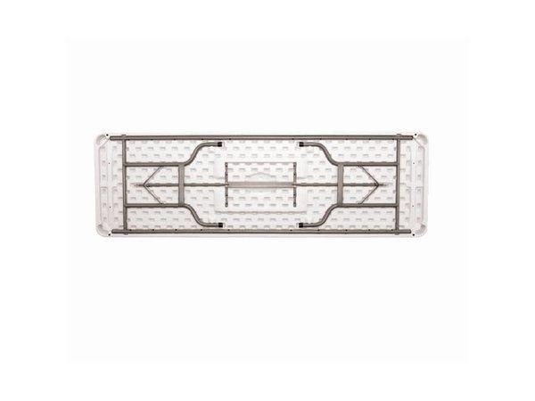 Bolero XXL Tabelle mit faltbarem Stahlrahmen - Tabletop auch Collapsible - 74 (H) x244 (b) cm
