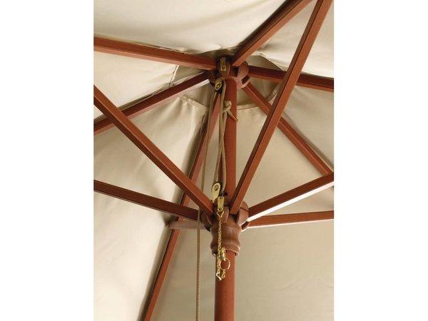 Bolero Parasol Round with Pulley Mechanism - Colour Ecru - 3 meter diameter