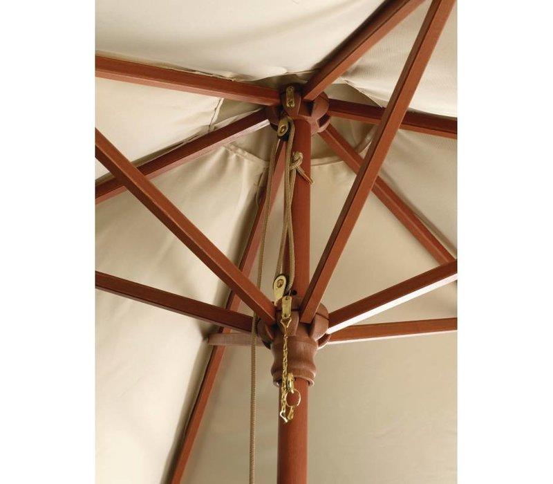 Bolero Sonnenschirm Rund mit Riemenscheiben-Mechanismus - Farbe Ecru - 3 Meter Durchmesser