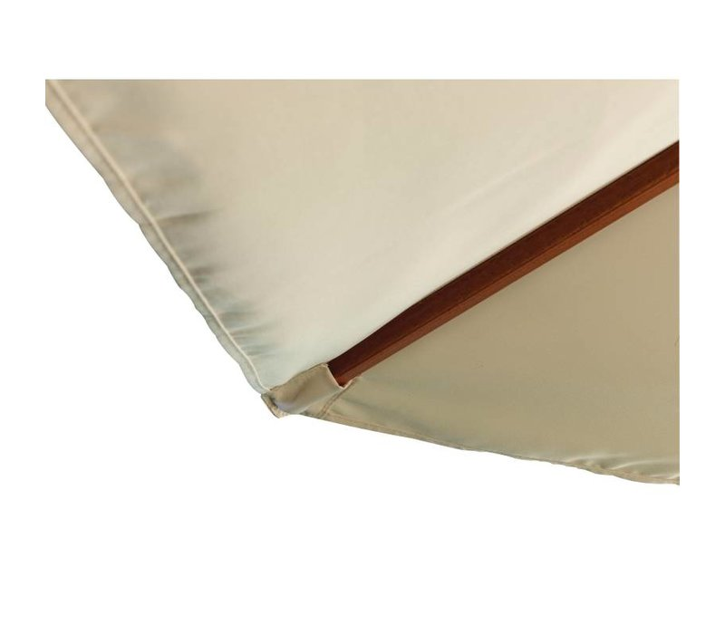 Bolero Parasol Rond met Katrolmechanisme - Kleur Ecru - 3 meter Ø