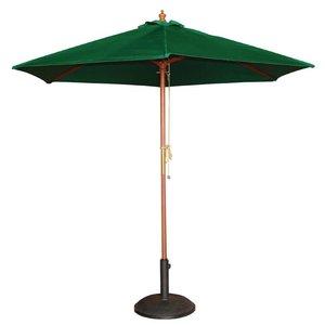 Bolero Sonnenschirm Rund mit Riemenscheiben-Mechanismus - Farbe Grün - 2,5 Meter Durchmesser