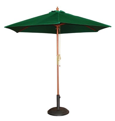Bolero Parasol Round with Pulley Mechanism - Colour Green - 2.5 meter diameter