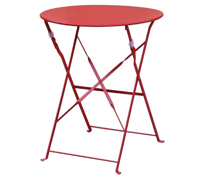 Bolero Steel Folding Table - Available in the colors Black, Red, Gray, and Green