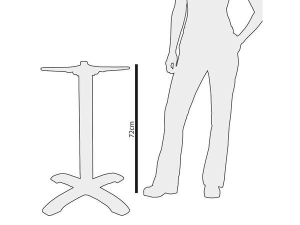 Bolero Tischgestell aus Gusseisen Klassische - Universal - Hoch 72cm - Tischplatten bis 800 mm Ø oder (B)