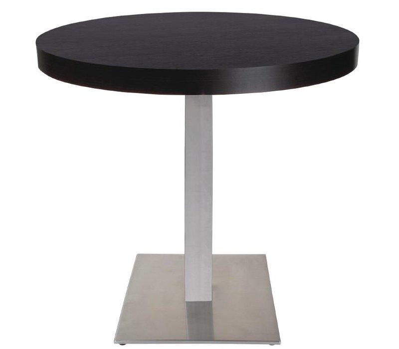 Bolero Tischbein aus Edelstahl - Universal - Hoch 72cm - für Tischplatten bis Ø 800mm oder (B)