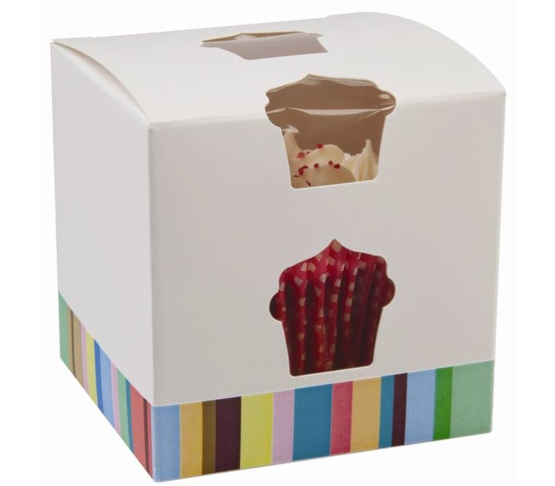 XXLselect Cupcake Boxes | just | 10 pcs | 80x80x (h) 80mm