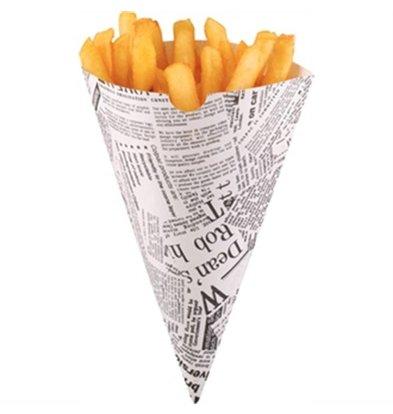 XXLselect Papiersäcke von Chips / Fries Taschen | Preis pro 1000 Stück | 182x182mm
