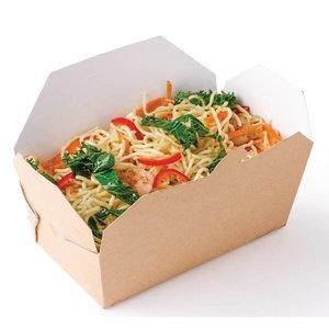 XXLselect Multi Cardboard Food Box Rectangle | 250 Pieces | 185x103x (H) 58mm