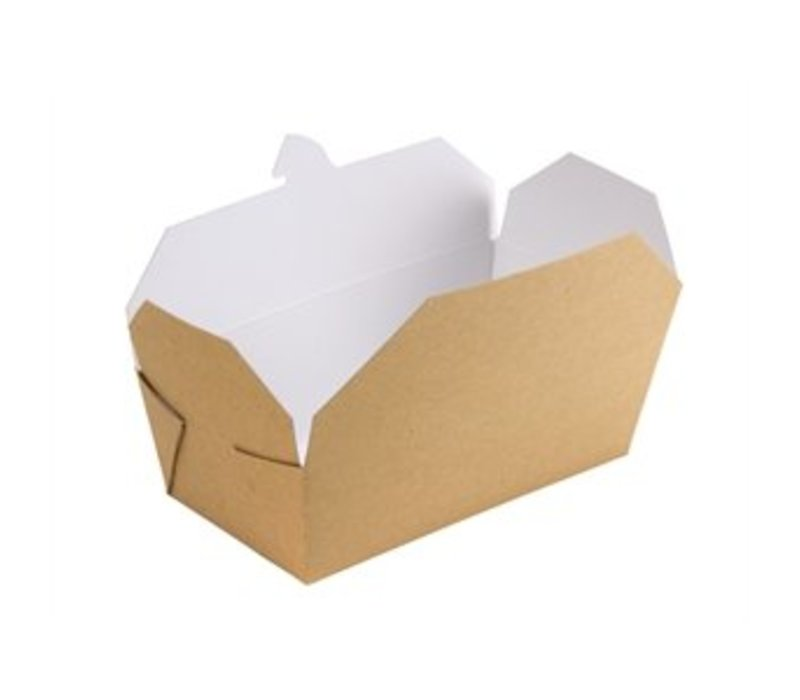 XXLselect Multi Cardboard Food Box Rectangle | 250 Pieces | 185x103x (H) 58mm