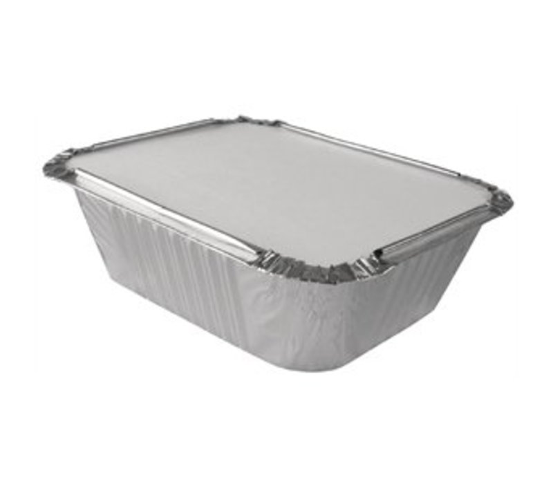 XXLselect Lid for Aluminium Takeaway Containers 69cl   500 Pieces   201x109mm