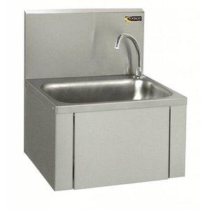 Sofinor Edelstahl-Waschbecken   Knie-Bedienung   Niedrige Wassernutzung   460x380x (H) 524 mm