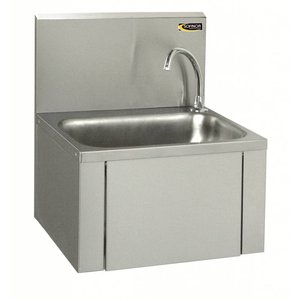 Sofinor RVS Wasbak | Kniebediening | Laag Watergebruik | 460x380x(H)524mm