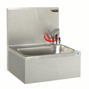 Sofinor Edelstahl-Waschbecken | Elektrischer Kran auf Batterien | Temperatur | 460x380x (H) 524 mm