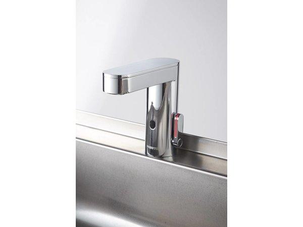 Sofinor Edelstahl-Spüle | 2 Elektronische Armaturen | Temperatur | 120x425x255 mm